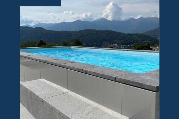 Foto di una piscina che si adatta